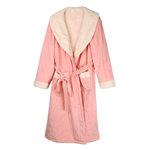 Pijama Ropa Baño Bata Basic Cálido Sección Hombre B Manga Para Larga De Mujer Invierno qHEH6