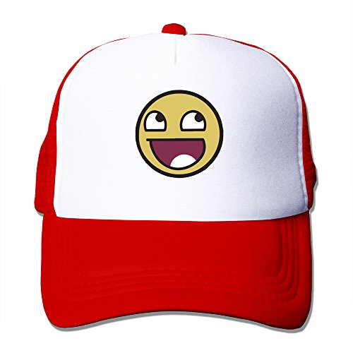 215927f1cc39 AIO Awesome Smiley Face Emoticon Basic Adjustable Snapback Trucker Red Cap  Hat - Buy Online in Oman.