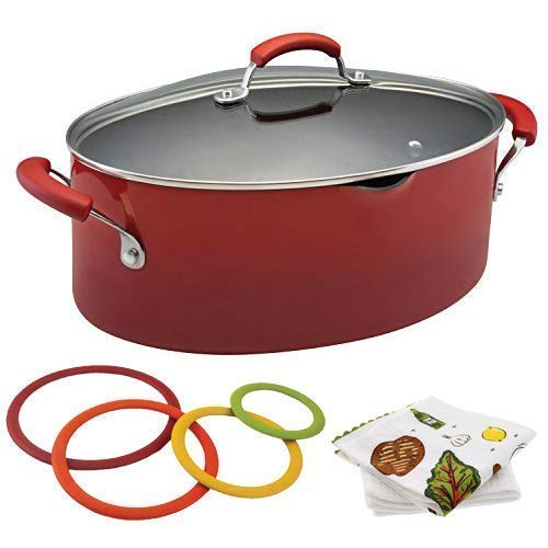 Nonstick 8 Quart Covered Pasta Pot by Rachael Ray | Red Grad