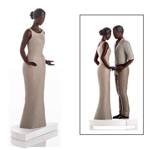 Wedding Cake Toppers - Bride and Groom Figurines. Mix & Match in Any Combination & Choose from Our Rustic Range. Suitable for Straight, Lesbian, Interracial & African American. Dark Skin Tone Female (African Cake American Topper Wedding)