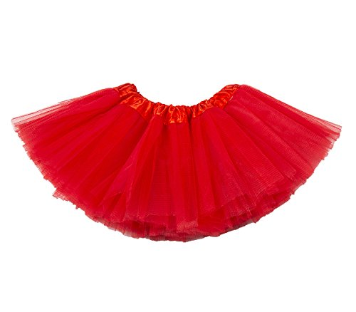 Toddler Red Tutu (belababy Newborn Girls Tutu 5 Layers Tulle Dress Up Skirt, Red)