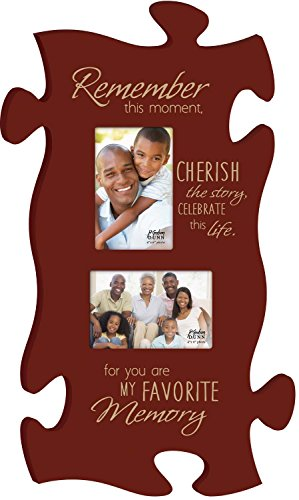 P. Graham Dunn You are My Favorite Memory Red 22 x 13 Wall Hanging Double Photo Puzzle Piece Frame ()