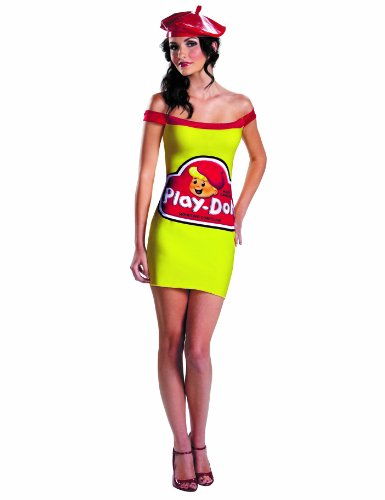 [Disguise Hasbro Games Play Doh Womens Classic Adult Costume, Red/Yellow, Small/4-6] (Play Doh Sexy Costumes)