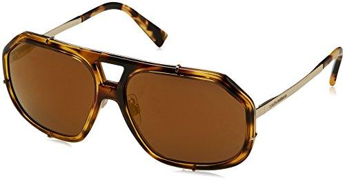 Dolce & Gabbana Men's Metal Man Aviator Sunglasses, Cube Havana, 61 - Eyewear And Gabanna Dolce