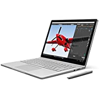 Microsoft Surface Book PA9-00001 13.5-Inch Multi-Touch 2-in-1 Notebook (Intel Core i7-6600U Dual-Core, 16GB RAM, 1 TB Hard Drive,Windows 10 Pro), Silver (Certified Refurbished)