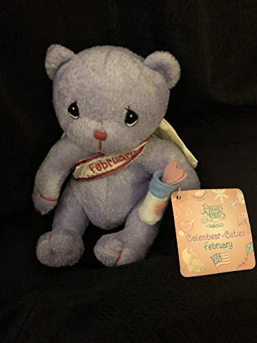 - Precious Moments Calendar Cuties February Lavendar Plush Bear 8