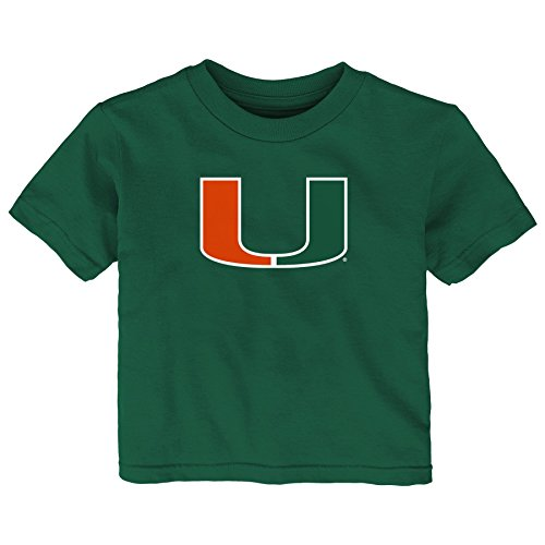 NCAA Miami Hurricanes Infant Primary Logo Short Sleeve Tee, 24 Months, Hunter Green