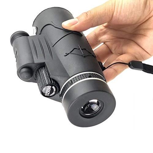 SOUFORCE 12X50 3in1 Monocular Telescope Flashlight +Red Dot +Compass