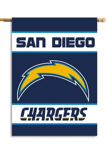 San Diego Chargers Flag (NFL San Diego Chargers 2-Sided 28-by-40-Inch House Banner)