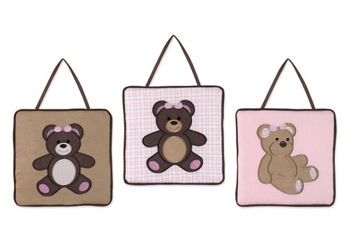 Pink Teddy Bear Design (Teddy Bear Pink Wall Hangings)