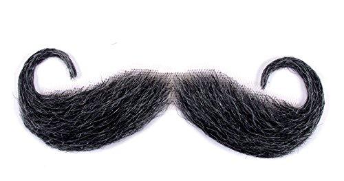 Loftus International Handle Bar Moustache, Gray