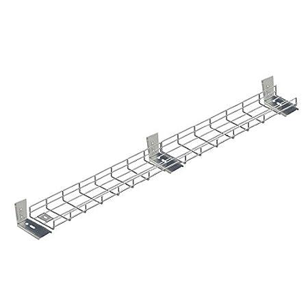 DSB2500.60L3 2500mm Long Under Desk Basket Tray w// Brackets /& Fixings