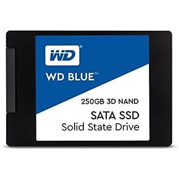 """WD Blue 3D NAND 250GB PC SSD - SATA III 6 Gb/s 2.5""""/7mm Solid State Drive - WDS250G2B0A"""