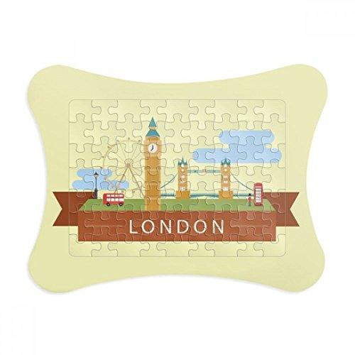 London Bridge UK Big Ben The London Eye Paper Card Puzzle Frame Jigsaw Game Home Decoration Gift