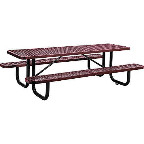 (8' Rectangular Expanded Metal Picnic Table, 96