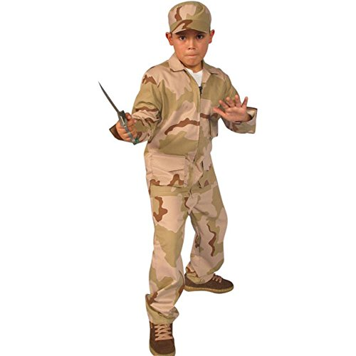 Childs Desert Army Costume (Size:Small 4-6) -