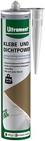 Ultrament Klebe- und Dichtpower 470 g grau