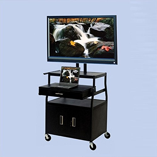 "VTI Wide Body 52"" Flat Panel TV Cart with Front/Back Cabi..."
