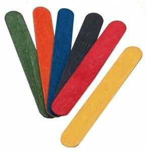 LP Creative - Palos de helado para manualidades (100 unidades), varios colores