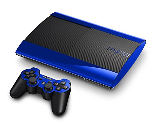 Sony PlayStation 3 Super Slim Skin (3rd Gen) - NEW - BLUE CHROME MIRROR system skins faceplate decal mod