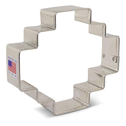 Geometric/Inca Plaque Cookie Cutter - 3.88 Inch - Ann Clark - USA Made Steel -