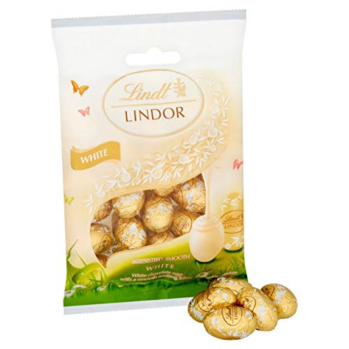 Easter Mini Eggs White Chocolate Lindt Lindor 100g (Pack of 2)