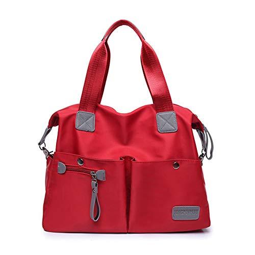 Grande Rojo Bolsa Rojo Momia Satchel Bolsa de Casual m Bolso de Bolso de Deportivo Impermeable Viaje Bandolera s Nylon OURBAG de Mujer wqUpzF