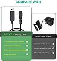 Charger Cable for Remington Shaver,AIEVE 5V Charger Lead Usb Power ...