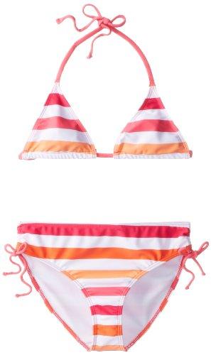 Kanu Surf Big Girls'  Sassy Bikini Swimsuit, Pink/Orange, 10