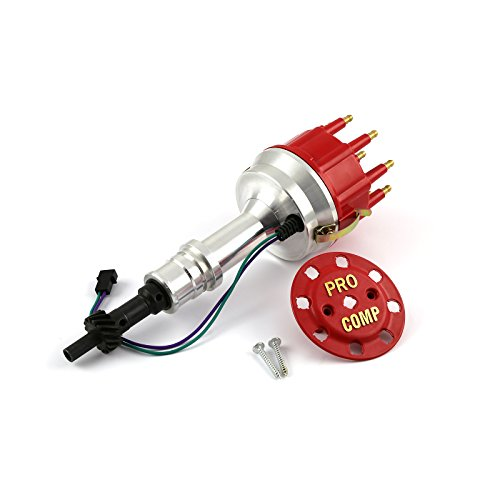 Procomp Electronics PCE376.1146 Ford 302 351C Cleveland Early 460 Race Pro Billet Aluminum Distributor Red Cap 8400 ()