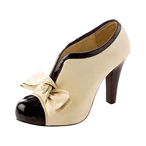Donne Sexy Bow Pump Stiletti Piattaforma Scarpe Tacco Alto Shoes Stivali Invernali