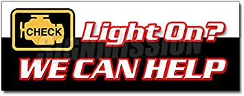 "36/"" CHECK ENGINE LIGHT DECAL sticker warning sensor repair maintenance"