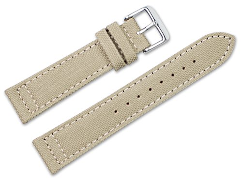 18mm-replacement-watch-band-nylon-canvas-w-leather-lining-tan-watch-strap