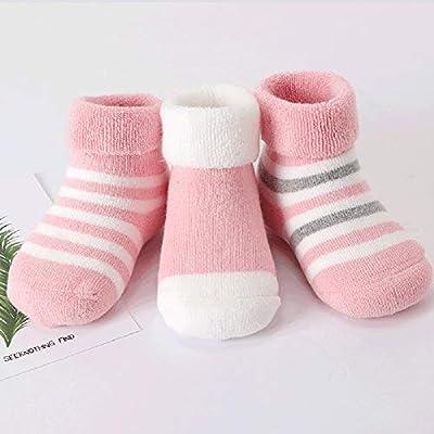 Wazi 100% Calcetines de algodón, Unisex recién Nacidos del bebé Calcetines hogar cálido Calcetines acogedores, 3 Pack (Color : Multicolor 01, tamaño : 12-24 Months): Amazon.es: Hogar