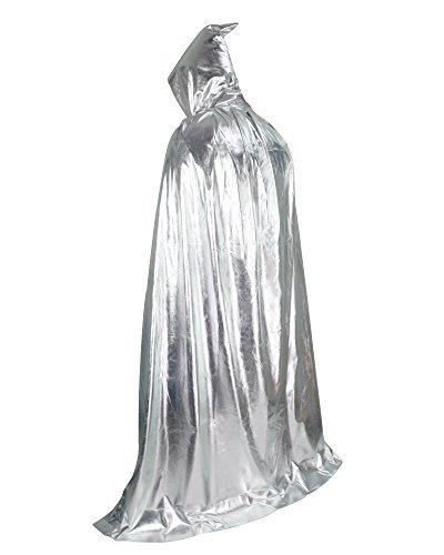 Vampire Costumes Party City (Halloween Party Christmas Magic Devil Long Vampire Dracula 59 Inch Hooded Cloak Fancy Dress Costume Cape Silver by Gardeningwill)