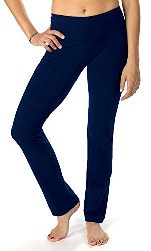 The Girls Cotton/Spandex Women's Straight Leg Pant Large Navy (Lycra Straight Leg Pants)