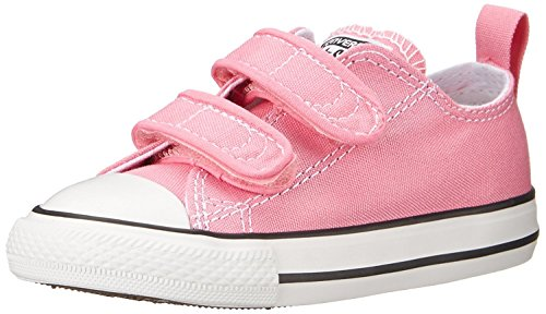 Converse Girls' Chuck Taylor All Star 2V Low Top Sneaker, Pink, 8 M US Toddler
