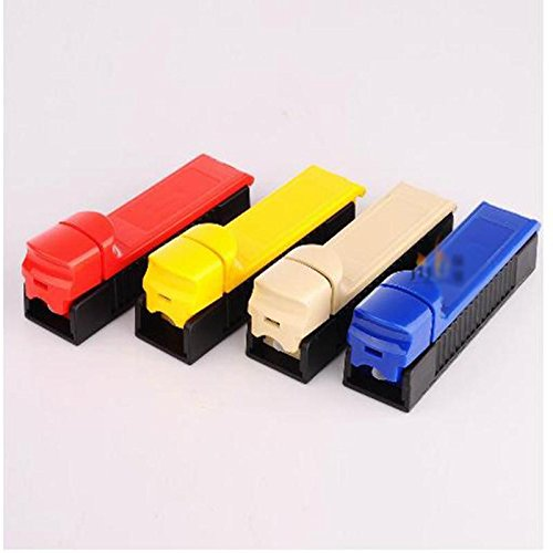 70MM Manual Single Tube Tobacco Roller Cigarette Injector Maker DIY (Single Cigarette)