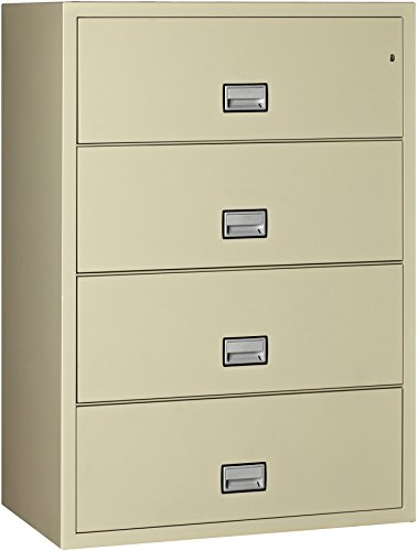 Phoenix Lateral 38 inch 4-Drawer Fireproof File Cabinet -...