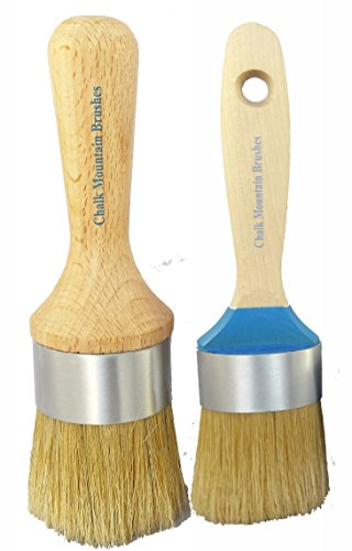 Medium Flat Boar Hair Bristle Paint Brush & Large Oval Bo...