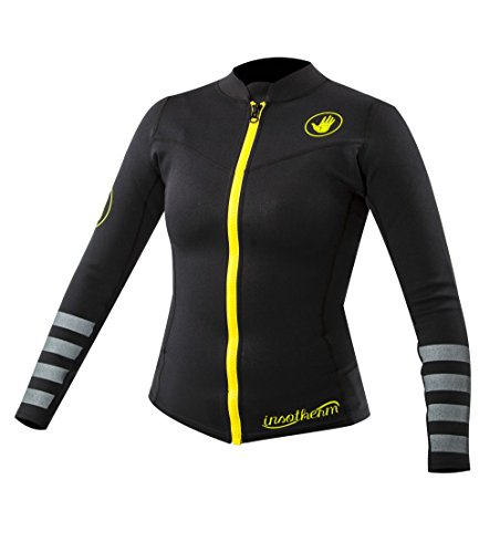 Body Glove 16753W Women's Insotherm Titanium Long sleeve Wetsuit Top, Black, Small/5mm