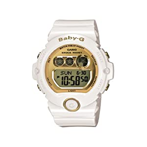 41zMOFxC8HL. SS300  - Casio Women's BG6901-7 Baby-G White Resin and Gold-Tone Accented Large Digital Sport Watch