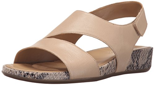 Naturalizer Women's Yessica Wedge Sandal, Taupe, 6 N US