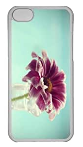 iPhone 5C Case Customized Unique Print Design Violet Flower In Vase iPhone 5c Cases Transparent by runtopwell
