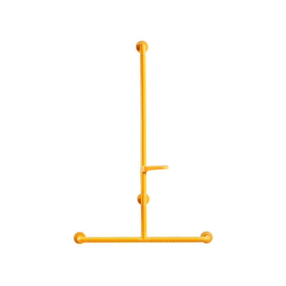 QFFL fushou バスルーム手すり/ステンレススチールバスサポートグラブ/トイレの安全性ノンスリップアームレスト/高齢者用T字型サポートハンドル(2色/ 4サイズ対応) (色 : イエロー いえろ゜, サイズ さいず : B) B07GZKBGTQ B イエロー いえろ゜ イエロー いえろ゜ B