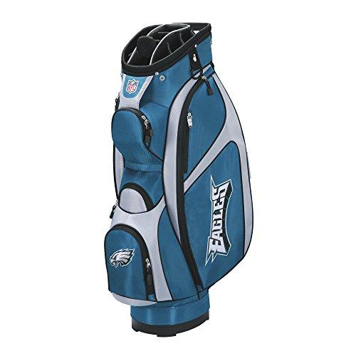 Wilson NFL Philadelphia Eagles Cart Golf Bag, Midnight Green/Grey, One Size ()