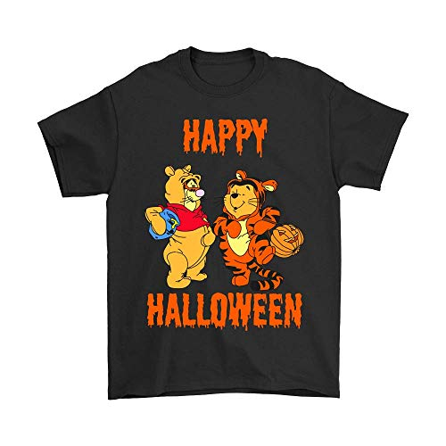 TSHIRTAMAZING Tigger Pooh Happy Halloween Shirts_Black_L
