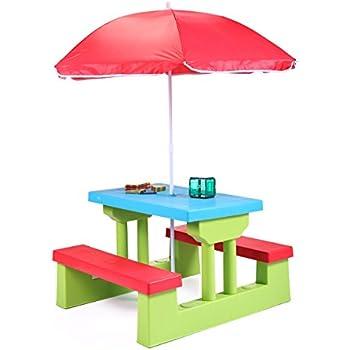 Amazon Com Cotzon Kids Patio Set Ladybug Folding Table