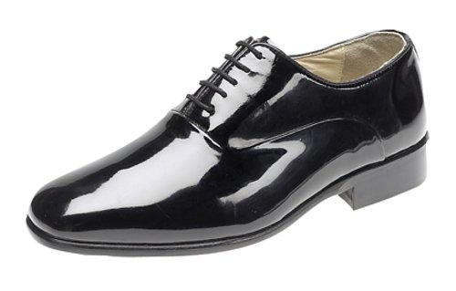 Montecatini - Zapatos Oxford de charol para hombre (suela de piel), color negro, color negro, talla 12 UK