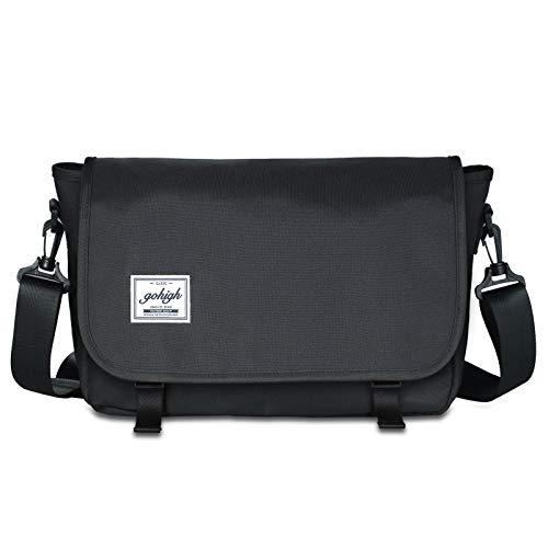 GOHIGH 14 inches Classic Canvas Messenger Bag 40cb543585b2d